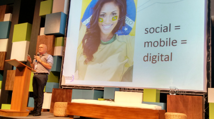 Nick Allen, da Nuevo Fundraising (EUA), falou sobre a importância de as organizações focarem suas estratégias no celular - Foto: Josilene Rocha
