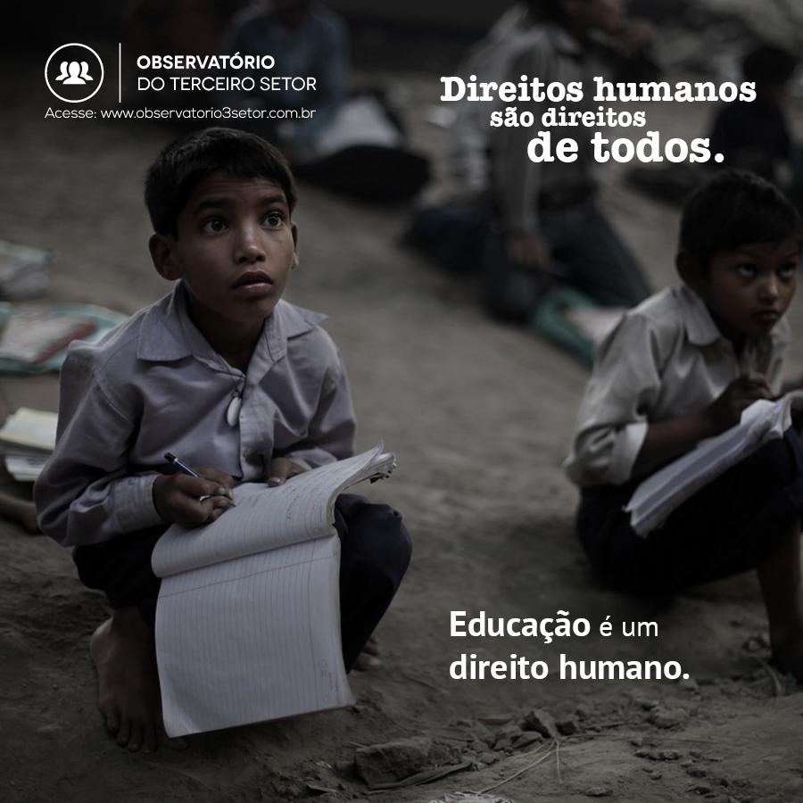 Educação é um direito humano
