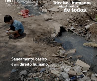 Campanha Direitos Humanos saneamento
