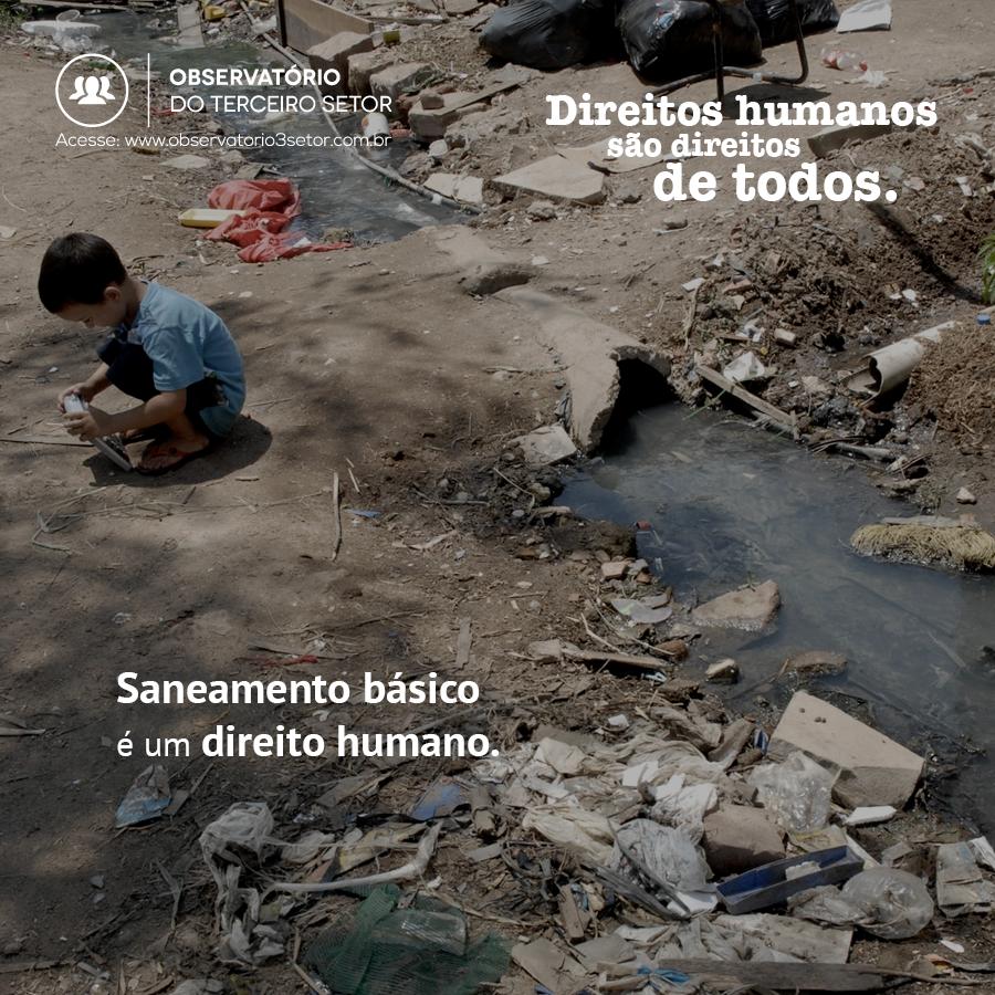 Saneamento básico é um direito humano