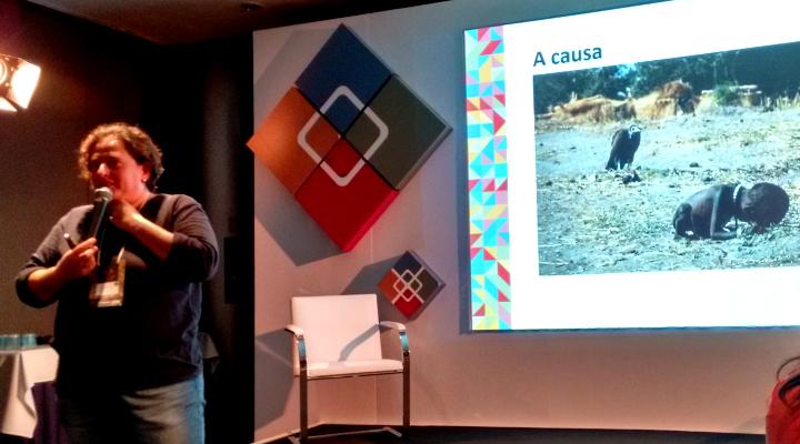 Carol Zanoti falou sobre a importância de medir impacto das suas ações - Foto: Josilene Rocha
