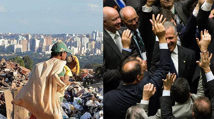 b7440ed1c7eb2 Um salário de deputado é a renda de 20 anos para 15 milhões de brasileiros