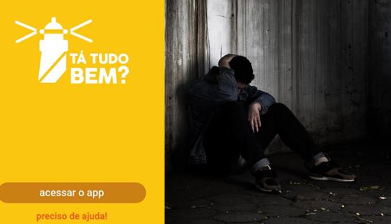 Aplicativo gratuito 'Tá tudo bem?' promove prevenção do suicídio