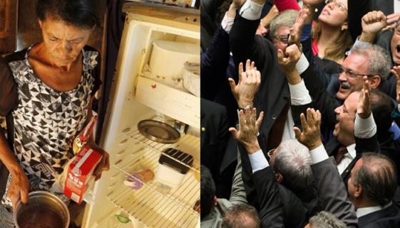 Fome atinge Brasil e deputados gastam 19 milhões em passagens aéreas
