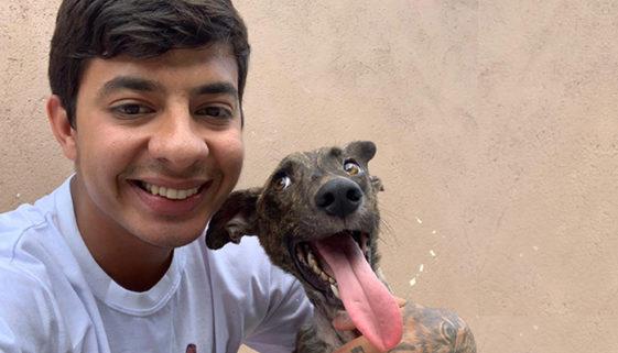Desde os 14 anos, jovem resgata animais vítimas de maus-tratos