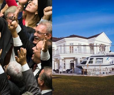 Câmara autoriza verba pública para compra de helicópteros e mansões