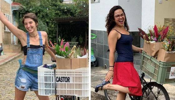 Professora monta rede de entregas por bicicletas só com mulheres e trans