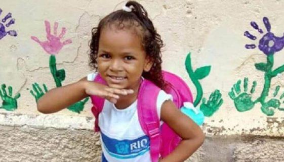 Menina de 5 anos morre por bala perdida no Rio de Janeiro