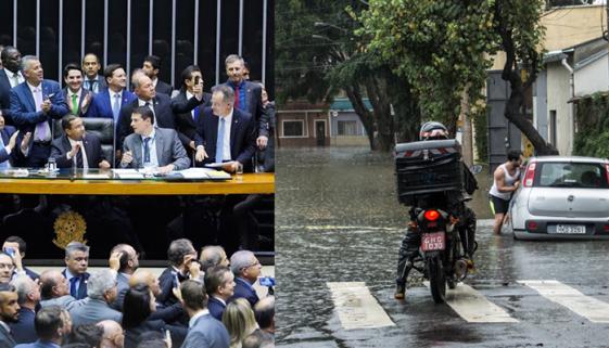Enquanto políticos têm auxílio-moradia, vítimas de enchentes ficam desamparadas
