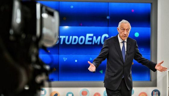 Presidente de Portugal dá aula pela TV durante a pandemia