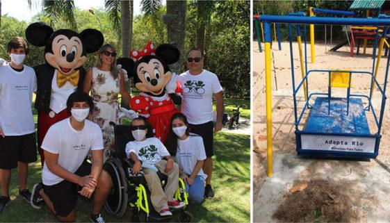 Jovens criam parque inclusivo para crianças com deficiência no RJ