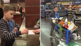 Menino de 9 anos gasta todo seu dinheiro em mantimentos para abrigo