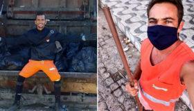 Garis usam redes sociais para falar do descarte correto do lixo